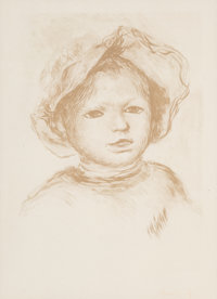 Pierre-Auguste Renoir (French, 1841-1919) Pierre Renoir, de Face From L'Estampe Originale, 1893 Lith
