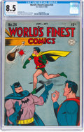 Golden Age (1938-1955):Superhero, World's Finest Comics #24 (DC, 1946) CGC VF+ 8.5 Off-white to white pages....