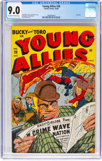 Young Allies Comics #20 (Timely, 1946) CGC VF/NM 9.0 Off-white to white pages