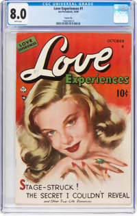 Love Experiences #1 Carson City Pedigree (Ace, 1949) CGC VF 8.0 White pages