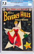 Golden Age (1938-1955):Romance, Miss Beverly Hills of Hollywood #1 (DC, 1949) CGC VF- 7.5 Off-white to white pages....