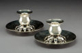 Silver & Vertu:Hollowware, A Pair of Kalo Shop Silver Candlesticks, Chicago, Illinois, mid-20th century . Marks: HAND, WROUGHT, STERLING, KALO, 8. ... (Total: 2 Items)