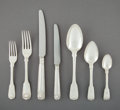 Silver & Vertu:Flatware, An Assembled Eighty Seven-Piece English Shell Pattern Silver Flatware Service, London and Sheffield, England, ea... (Total: 87 Items)