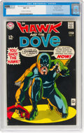 Silver Age (1956-1969):Superhero, Hawk and the Dove #5 (DC, 1969) CGC NM 9.4 Off-white to whitepages....