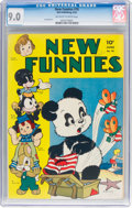 Golden Age (1938-1955):Funny Animal, New Funnies #76 (Dell, 1943) CGC VF/NM 9.0 Off-white to white pages....