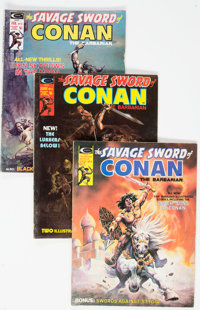 Savage Sword of Conan Group of 27 (Marvel, 1975-82) Condition: Average VG/FN.... (Total: 27 Comic Books)