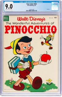 Four Color #545 Pinocchio (Dell, 1954) CGC VF/NM 9.0 Cream to off-white pages