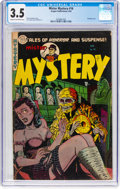 Golden Age (1938-1955):Horror, Mister Mystery #16 (Aragon, 1954) CGC VG- 3.5 Cream to off-white pages....