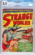 Golden Age (1938-1955):Science Fiction, Strange Worlds #9 (Avon, 1952) CGC GD+ 2.5 Cream to off-white pages....