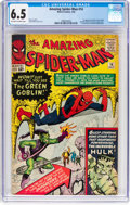 Silver Age (1956-1969):Superhero, The Amazing Spider-Man #14 (Marvel, 1964) CGC FN+ 6.5 Off-white towhite pages....
