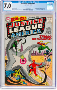 The Brave and the Bold #28 Justice League of America (DC, 1960) CGC FN/VF 7.0 Off-white pages