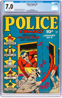 Police Comics #6 (Quality, 1942) CGC FN/VF 7.0 Off-white pages