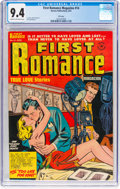 Golden Age (1938-1955):Romance, First Romance Magazine #14 File Copy (Harvey, 1952) CGC NM 9.4Cream to off-white pages....