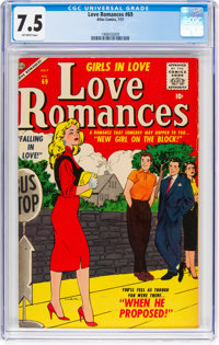 Love Romances #69 (Marvel, 1957) CGC VF- 7.5 Off-white pages