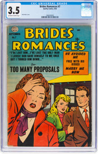 Brides Romances #7 (Quality, 1954) CGC VG- 3.5 Off-white to white pages