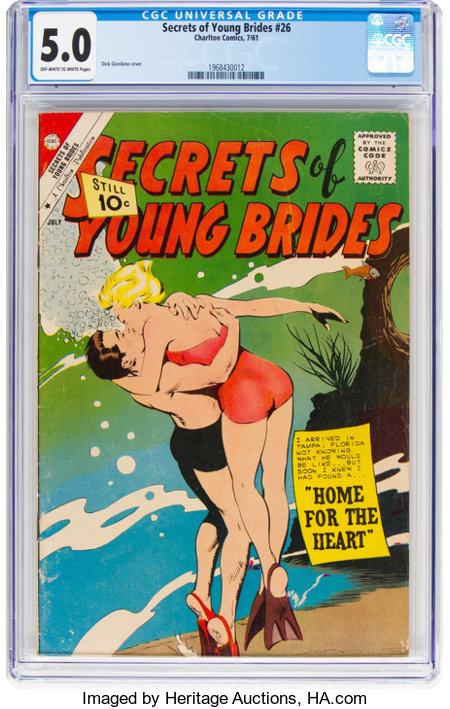 Secrets of Young Brides #26 (Charlton, 1961) CGC VG/FN 5.0 Off-white to white pages....