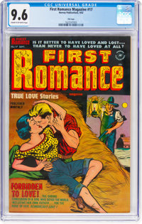 First Romance Magazine #17 File Copy (Harvey, 1952) CGC NM+ 9.6 Cream to off-white pages