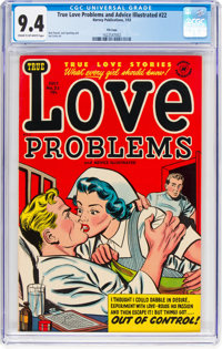 True Love Problems and Advice Illustrated #22 File Copy (Harvey, 1953) CGC NM 9.4 Cream to off-white pages