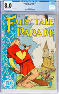 Golden Age (1938-1955):Funny Animal, Fairy Tale Parade #1 (Dell, 1942) CGC VF 8.0 Off-white to white pages....