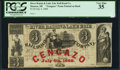 Obsoletes By State:Michigan, Monroe, MI- River Raisin & Lake Erie Ad Note $3 18__ Remainder PCGS Very Fine 35.. ...