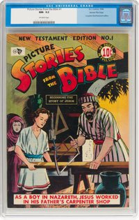 Picture Stories from the Bible New Testament Edition #1 Gaines File Pedigree (EC, 1946) CGC NM- 9.2 Off-white pages