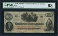Confederate Notes:1862 Issues, T41 $100 1862 PF-10 Cr. 315A PMG Choice Uncirculated 63.. ...