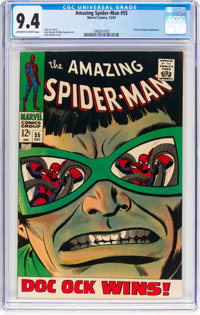 The Amazing Spider-Man #55 (Marvel, 1967) CGC NM 9.4 Off-white to white pages