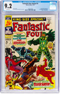 Silver Age (1956-1969):Superhero, Fantastic Four Annual #5 (Marvel, 1967) CGC NM- 9.2 White pages....