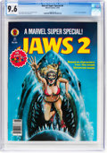 Magazines:Miscellaneous, Marvel Comics Super Special #6 Jaws 2 (Marvel, 1978) CGC NM+ 9.6 White pages....