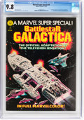 Magazines:Science-Fiction, Marvel Comics Super Special #8 Battlestar Galactica (Marvel, 1978) CGC NM/MT 9.8 White pages....