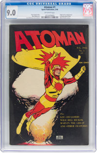 Atoman #1 (Spark Publications, 1946) CGC VF/NM 9.0 Off-white pages