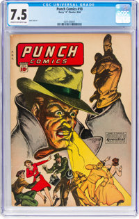 Punch Comics #10 (Chesler, 1944) CGC VF- 7.5 Cream to off-white pages