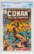 Bronze Age (1970-1979):Adventure, Conan the Barbarian #1 (Marvel, 1970) CBCS VF/NM 9.0 White pages....
