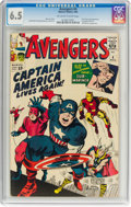 Silver Age (1956-1969):Superhero, The Avengers #4 (Marvel, 1964) CGC FN+ 6.5 Off-white to whitepages....