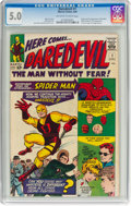 Silver Age (1956-1969):Superhero, Daredevil #1 (Marvel, 1964) CGC VG/FN 5.0 Off-white to whitepages....