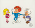 Animation Art:Presentation Cel, Tom Slick Scene Cel and Production Background (Jay Ward,1967). ...