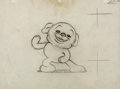 Animation Art:Production Drawing, The Swing School Pudgy Animation Drawing (Max Fleischer,1938). ...