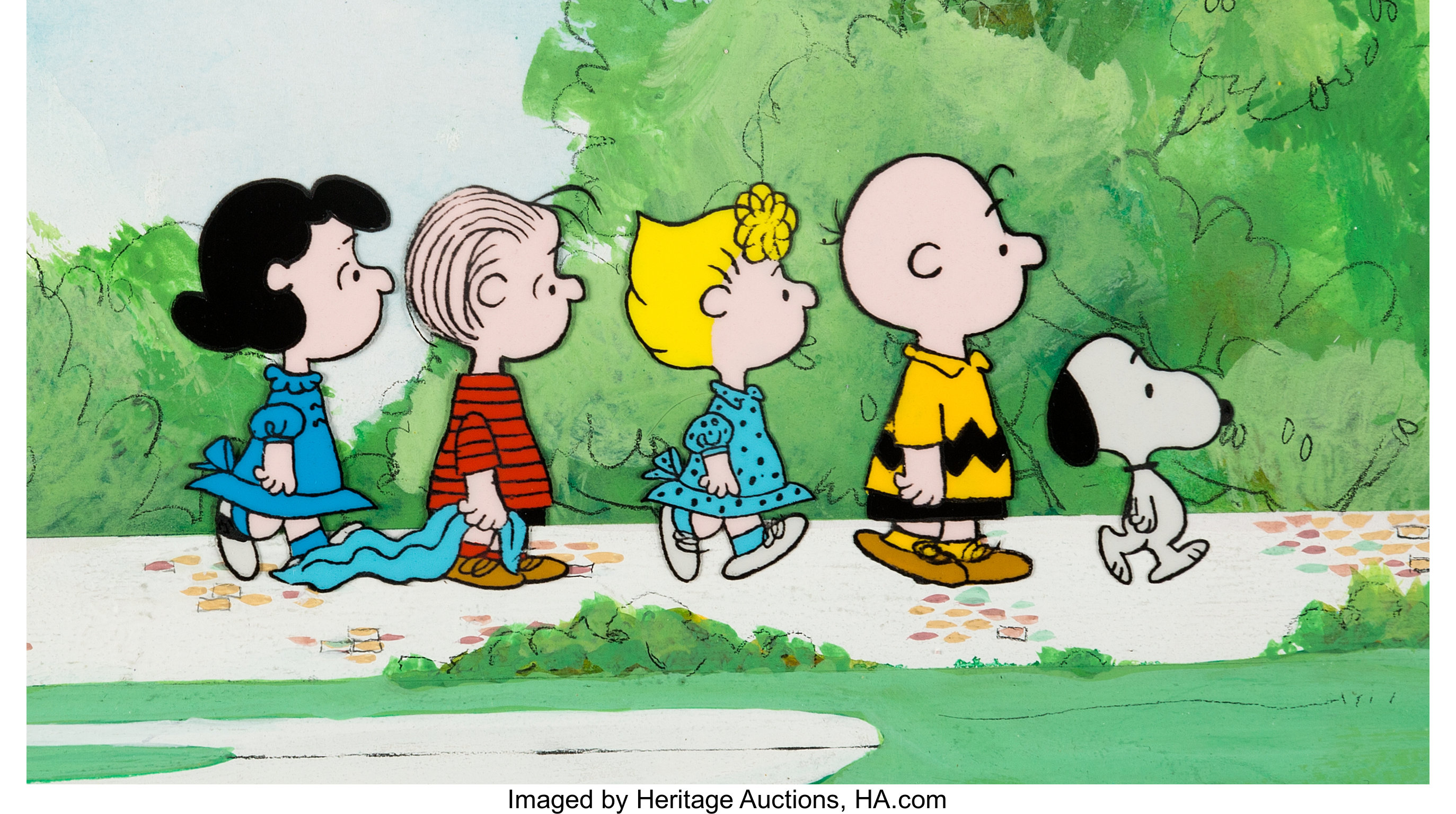 Peanuts   Charlie Brown and Friends Color Model Cel on Production ...