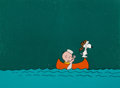 Animation Art:Production Cel, Peanuts - It Was a Short Summer, Charlie Brown Charlie Brownand Snoopy Production Cel Setup (Bill Melende...