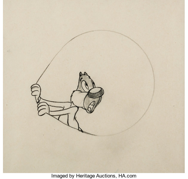 Screwball Squirrel Animation Drawing Mgm 1944 Animation Art