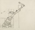 Animation Art:Production Drawing, Northwest Hounded Police Wolf Production Drawing (MGM, 1946).. ...