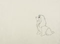 Animation Art:Production Drawing, Lady and the Tramp Lady Animation Drawing (Walt Disney, 1955).. ...