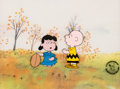 Animation Art:Production Cel, Peanuts - A Charlie Brown Thanksgiving Charlie Brown andLucy Production Cel Setup (Bill Mel...