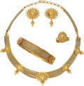 Estate Jewelry:Suites, Gold Jewelry Suite. ... (Total: 4 Items)