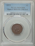1873 1C Open 3, Misplaced Date, Snow-6, FS-1302, MS62 Brown PCGS. PCGS Population: (1/0). NGC Census: (0/0). MS62. Minta...