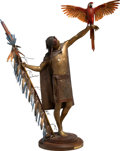 Sculpture, Dave McGary (American, 1958-2013). Carrier of the Sun, 1986. Bronze with polychrome patina. 41-1/2 inches (105.4 cm) hig...