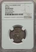 Netherlands East Indies, Netherlands East Indies: Dutch Colony. Willem I silver Pattern Cent 1836 AU Details (Edge Filing) NGC,...
