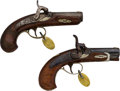 Handguns:Derringer, Palm, Lot of Two Engraved Philadelphia Deringers.... (Total: 2 Items)
