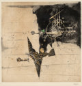 Fine Art - Work on Paper:Print, Johnny Friedlaender (1912-1992). The White Flight and Watching Paper (two works), n.d.. Etchings with aquatint in co... (Total: 2 Items)