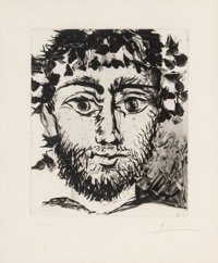 After Pablo Picasso Tête de Faune, 1958 Soft-ground etching and aquatint on japon nacre paper 11